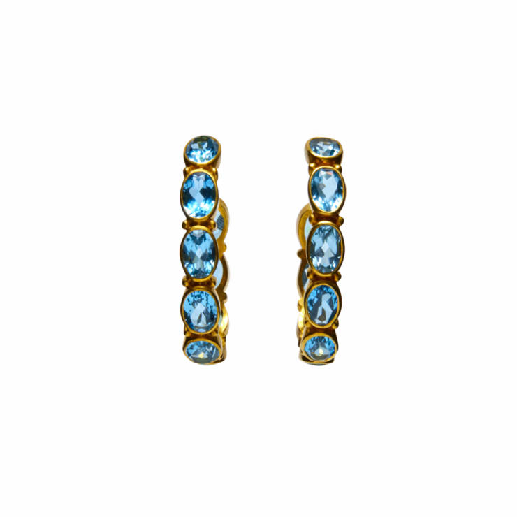 Citrine Hoop Earrings - Contemporary Collections: Colors
