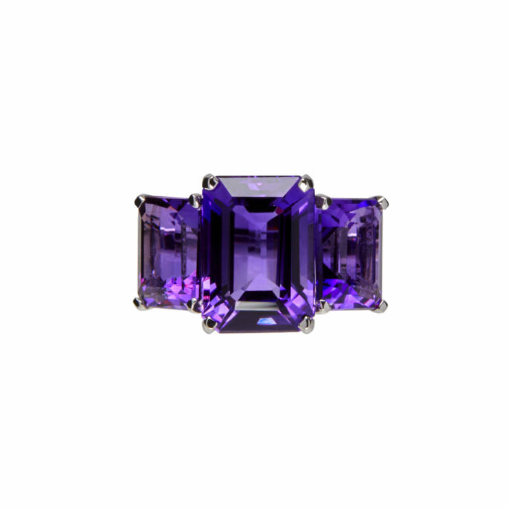 Amethist Square Colors Ring