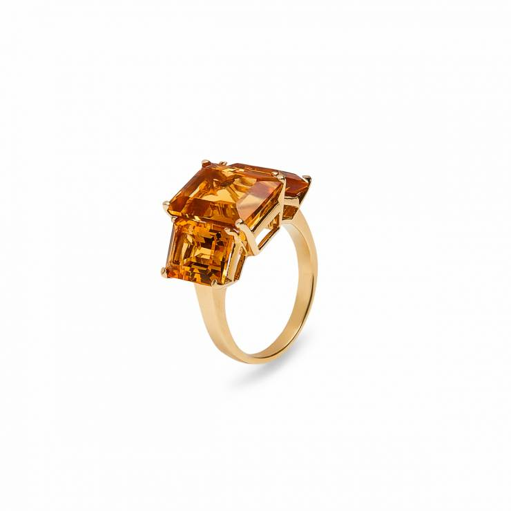 Citrine Square Colors Ring