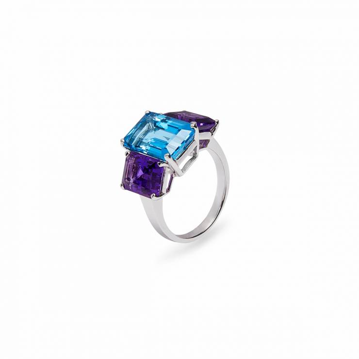 Two-Color Square Colors Ring