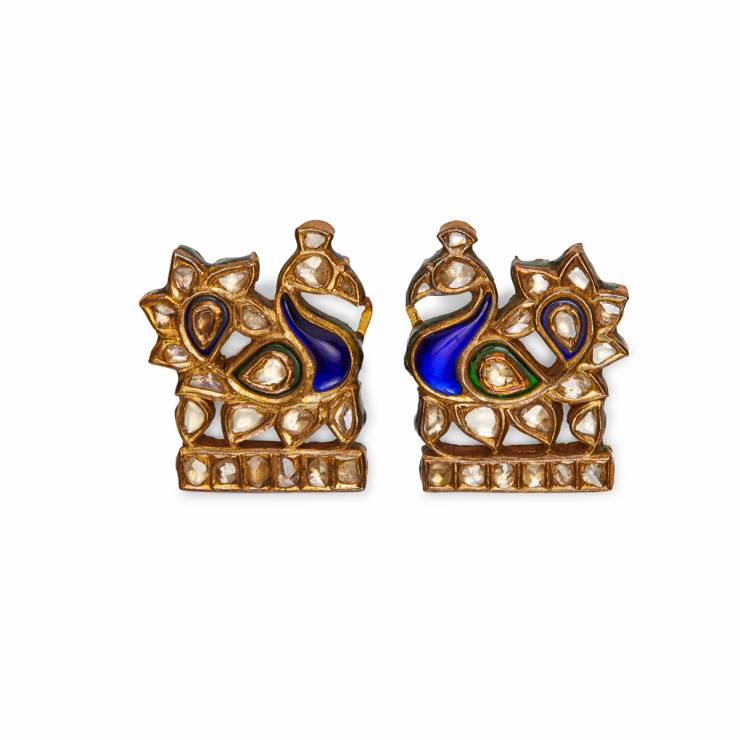 Pair Peacock Broches